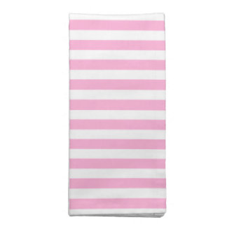 Pink and White Stripe Pattern Napkin