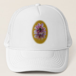 Pink and White Striped Daisy Gerbera Cap