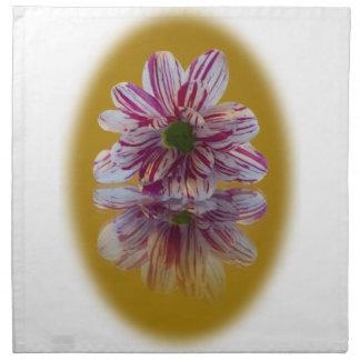 Pink and White Striped Daisy Gerbera Napkin
