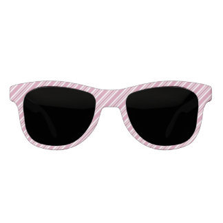 Pink And White Striped Pattern Sunglasses