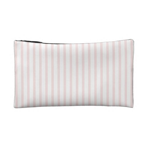 Pink and White Stripes Cosmetics Bags