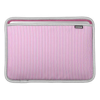 Pink and White Stripes MacBook Sleeve