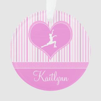 Pink and White Stripes / Polka-Dots Figure Skater