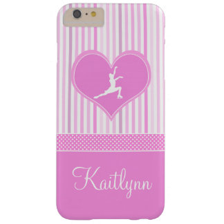 Pink and White Stripes / Polka-Dots Figure Skater Barely There iPhone 6 Plus Case