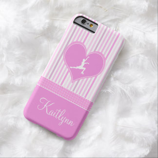 Pink and White Stripes / Polka-Dots Figure Skater Barely There iPhone 6 Case