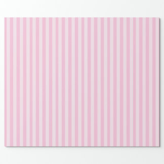 Pink and White Stripes Wrapping Paper