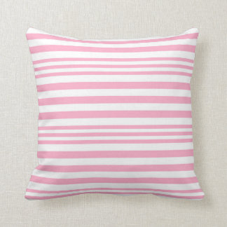 Pink and White Stripes X 3 Cushion