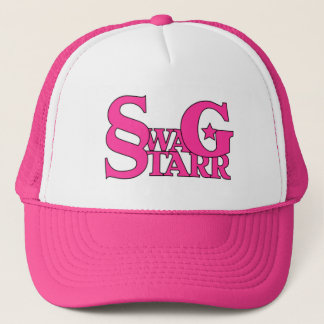 Pink and White Swag Starr Hat