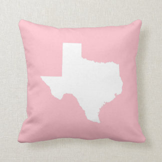 Pink and White Texas Cushion