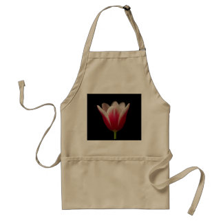 Pink and White Tulip Apron