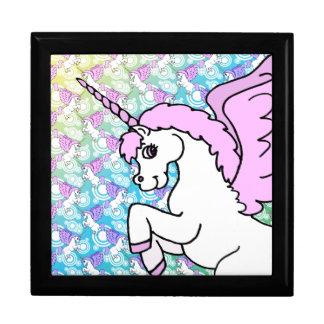 Pink and White Unicorn Graphic Gift Box