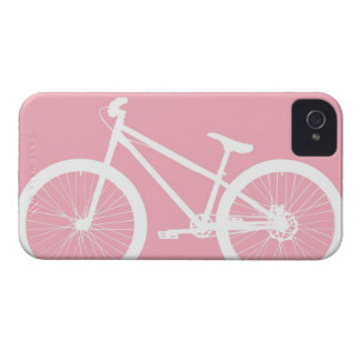 Pink and White Vintage Bicycle iPhone 4s Case