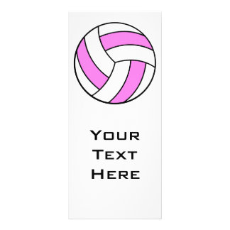 pink and white volleyball personalised rack card