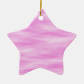 Pink and White Wavy Pattern. Ceramic Star Decoration