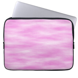 Pink and White Wavy Pattern. Laptop Sleeve