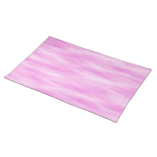 Pink and White Wavy Pattern. Placemat
