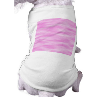 Pink and White Wavy Pattern. Sleeveless Dog Shirt