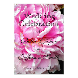 Pink and White - wedding invitation