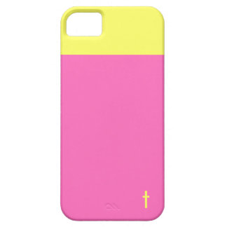 Pink and Yellow Cross iPhone 5 Case