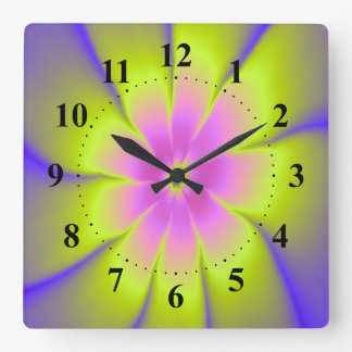 Pink and Yellow Daisy Wall Clock