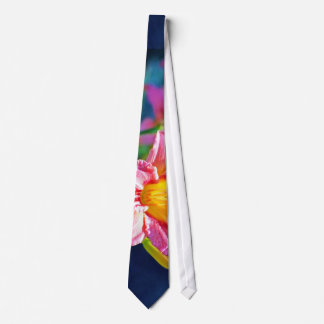 Pink And Yellow Daylily In Focus Tie