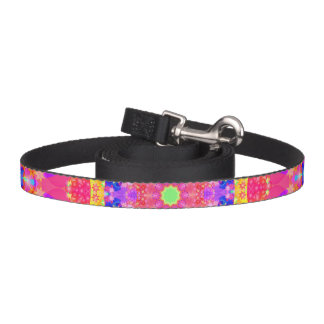 Pink and Yellow Kaleidoscope Fractal Pet Lead