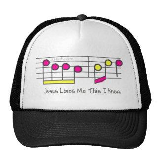 Pink and Yellow Lyrics Mesh Hats