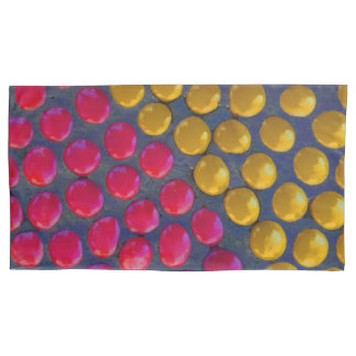 Pink and yellow pillowcase