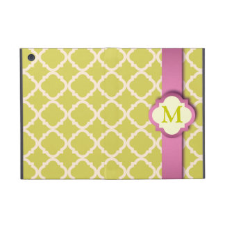 Pink and Yellow Quatrefoil iPad Mini Powis Case