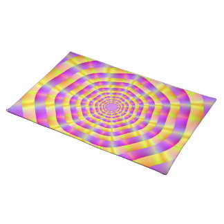 Pink and Yellow Rings American MoJo Placemats
