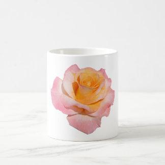 Pink and yellow Rose Basic White Mug