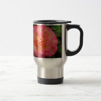 Pink and Yellow Rose Travel Mug