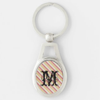 pink and yellow stripes key chains