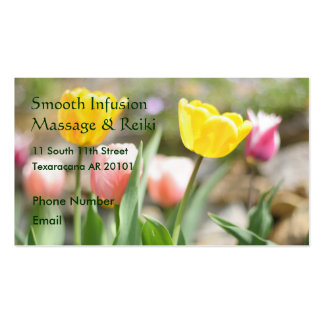 Pink and Yellow Tulips Business Card