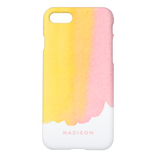 Pink and Yellow Watercolor Gradient iPhone 8/7 Case