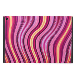 Pink and yellow wavy stripes pattern case for iPad air