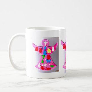 Pink Angel Basic White Mug