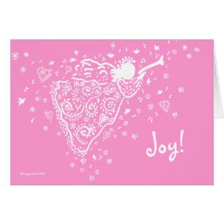pink angel, Joy!, Card