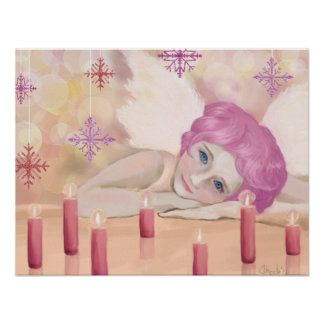 Pink Angel Poster