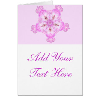 Pink Angel Queen Princess Kaleidoscope Abstract Greeting Card