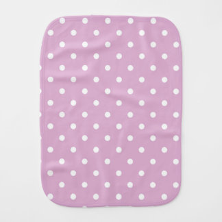 Pink Angora Polka Dot Baby Burp Cloth