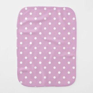 Pink Angora Polka Dot Baby Burp Cloth