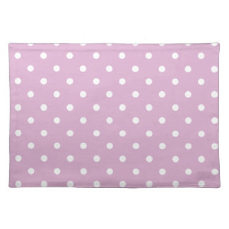 Pink Angora Polka Dot Placemats