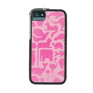 Pink Animal Kingdom Pattern iPhone 5 Cover