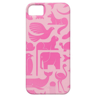 Pink Animal Kingdom Pattern Barely There iPhone 5 Case