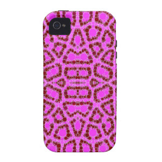 Pink Animal Print Abstract Case For The iPhone 4