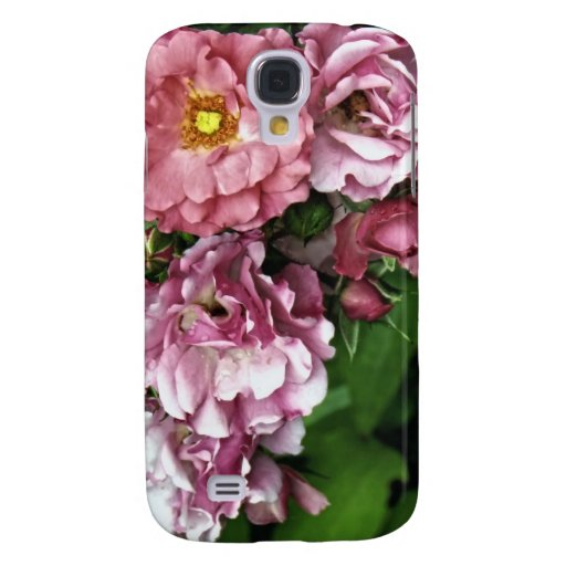 Pink Antique Rose Galaxy S4 Case