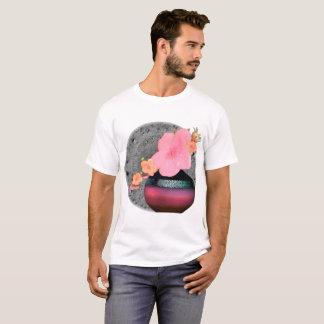 Pink Apple Blossom Floral Motif T-Shirt