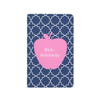 Pink Apple Navy Quatrefoil Journals