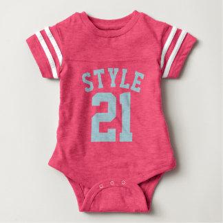 Pink & Aqua Baby | Sports Jersey Design T-shirts